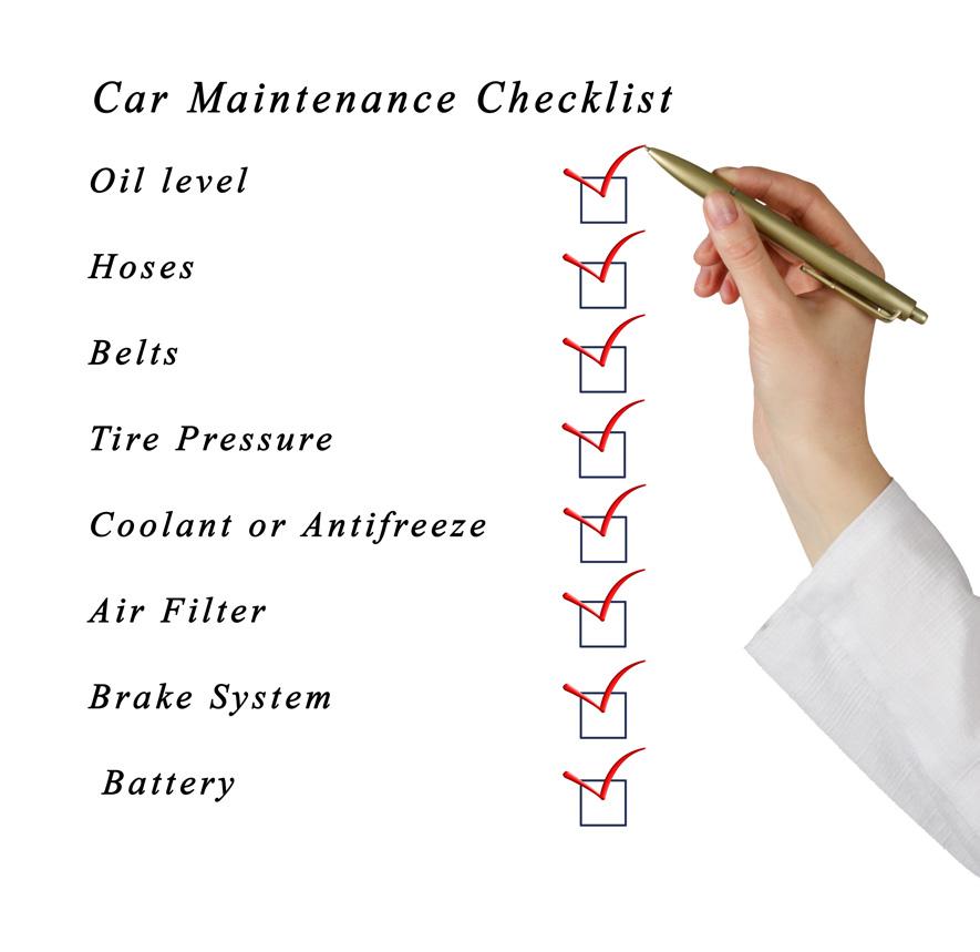 Car maintenance schedule checklist 15
