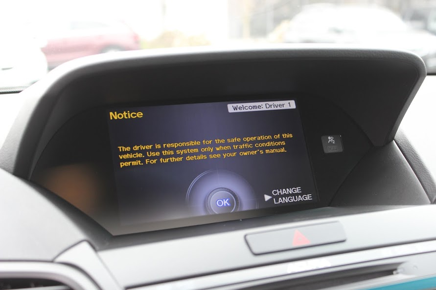 2015 Acura RDX Tech navigation screen