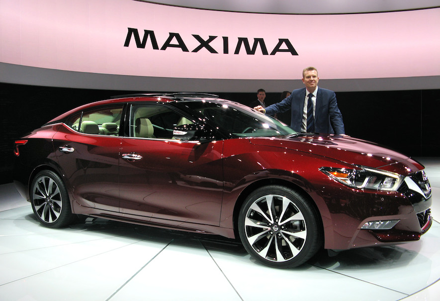 the 2016 nissan maxima unveiled in new york along with 2016 infiniti qx50 and qx30 concept. Black Bedroom Furniture Sets. Home Design Ideas