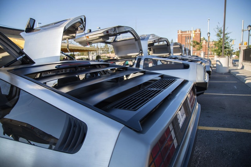 DeLoreans rear lined up