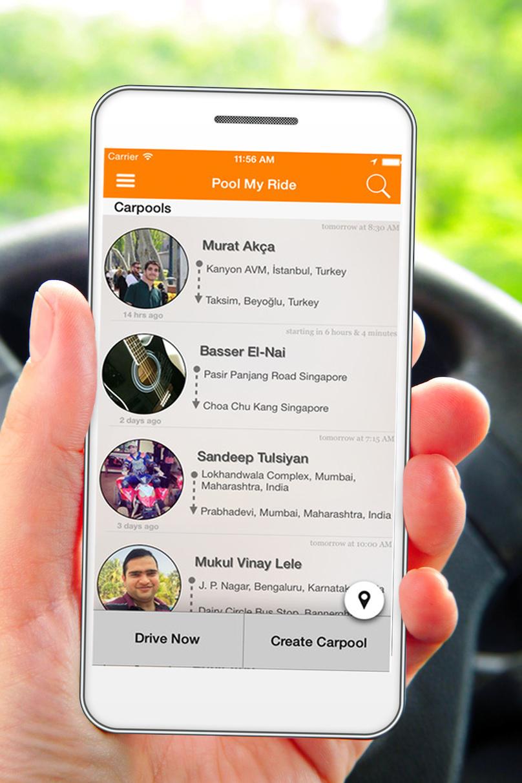 Poolmyride app