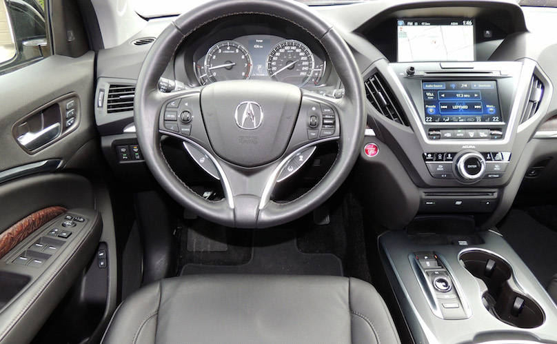 the 2016 acura mdx people mover gets new features and tech. Black Bedroom Furniture Sets. Home Design Ideas