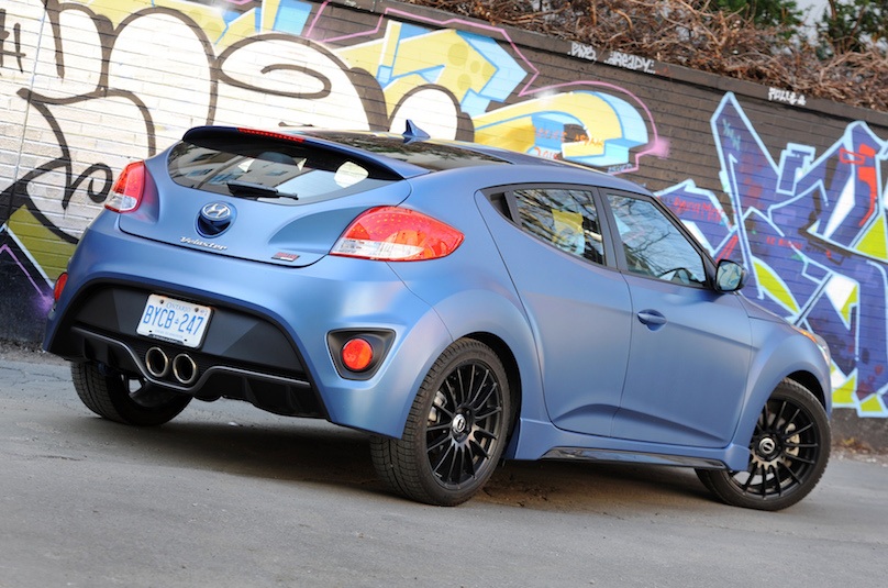 A Veloster Turbo In Rally Blue Wheels Ca